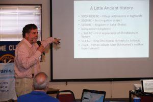 WSU entomologist Rich Zack presents at a 2015 Pullman Kiwanis meeting.